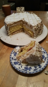 The zuger kirschtorte I made for my mother's birthday - my last meal before fasting...